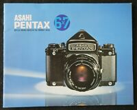 Catalogue appareil photo PENTAX 6x7 reflex ASAHI catalog Katalog