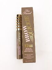 TOO FACED BROW QUICKIE Brush Universal Taupe Brow Gel 12HR Wear Full Size 5ml