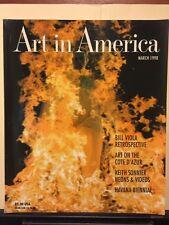 Art In America March 1998 Bill Viola Keith Sonnier Havana Côte D'azur