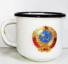 Iron cups drink vodka juice tea enamel Russia Era of the USSR 200 ml COFFEE MUG