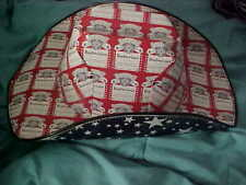 Red White Budweiser All Over Print Logo Stars Cowboy Hat made from Cardboard Box