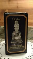Vintage 1981 Goebel Annual Crystal Glass Bell With Box