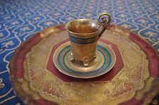 rare Antique/Vintage DW Porzellan Karlsbader Wertarbeit Coffee Cup Saucer gold