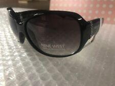 $44.00 NEW Nine West Womens Black rhinestones on temples Sunglasses  53