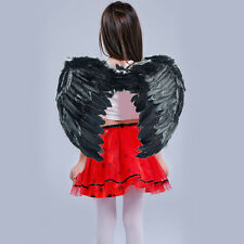 Black Amazing Cosplay Angle Wing For Fancy Restival In Kids