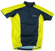 Aw Athletic Works Yellow Blue Cycling Bike Racing Jersey Shirt Men's Medium M