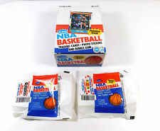 1986-87 Fleer Basketball Empty Display Box w/ 2 Wax Pack Wrappers