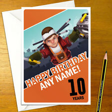 SCRAP MECHANIC Personalised Birthday Card - A5 online creative build craft mine