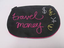 Travel Money Embroidered Saving Money Make Up Bag Coin Purse Gift #7F44
