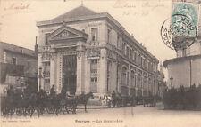 BOURGES les beaux-arts attelage timbrée recto 1903