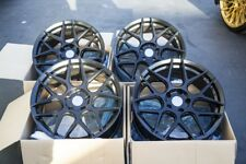 18X8 +15 AODHAN LS002 5X114.3 BLACK WHEELS (OPEN BOXS) FITS 240SX G35 350Z TL
