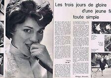 Coupure de presse Clipping 1960 Anne-Marie Peysson    (2 pages)
