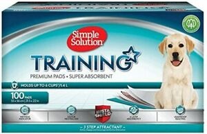 Simple Solution Premium Puppy Dog Pet Training Pads Odour Absorbent Pack of 100