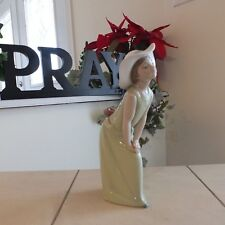 Lladro 5009 Curious Girl w/Straw Hat Mint Vintage Figurine Issued 1978 Fast Ship