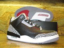 2011 Nike Air Jordan 3 III Retro OG SZ 9 Black Cement Grey Fire Red 136064-010