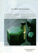 Publicité Advertising 1978  Parfum VETYVER de LANVIN  eau de toilette savon