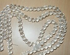 1 strand 8mm round clear sparkling cut faceted glass crystal about 43 beads