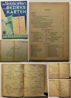 Orig Prospekt Die Netzkarten und Bezirkskarten der Reichsbahn 1933 Geschichte sf