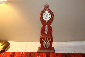 ANTIQUE VINTAGE SWEDISH MORA CLOCK / MANTEL CLOCK HAND PAINTED SWEDEN 1900`S