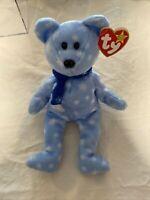 RARE errors TY Beanie Babies Baby ICE BLUE SNOWFLAKE 1999 HOLIDAY TEDDY BEAR