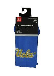 UNDER ARMOUR UA Training UCLA Cushioned Crew Socks Mens (9-12.5) Womens (11-13)