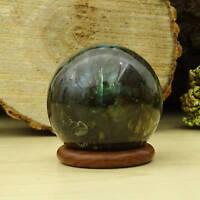cristal guérison labradorite pierre boule naturelle pierre gemme sphère avec