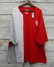 Sean John Big & Tall Mens Size 5XB Red White & Gray Color Block T-Shirt New