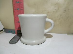 HALL CHINA RESTAURANT MUGS PAIR - IMPRESSED AND INK MARKS - EARLY HALL
