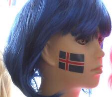 Island Flaggen Tattoo 10 Stück  Fanartikel  WM 2018 NEU