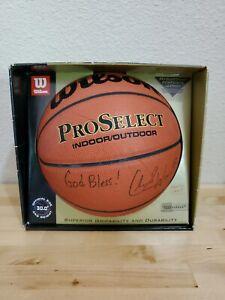 "CHARLIE WARD KNICKS AUTOGRAPHED ""GOD BLESS"" WILSON NBA BASKETBALL JORDAN BOX"
