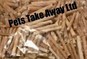 1KG BAG - TOP QUALITY RAWHIDE OFF CUTS TWISTS DOG CHEWS - SUPER FAST DELIVERY