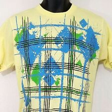 Argyle Plaid Mens T Shirt Vintage 80s 90s Soft Spun Made In USA Abstract Medium