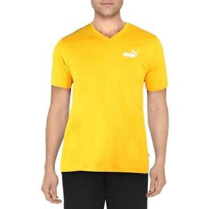 Puma Mens Yellow Running Fitness Workout T-Shirt Athletic M  1291