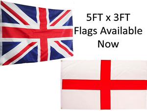 England Flag Union Jack Flag 5FT x 3FT Available Football Rugby