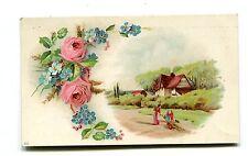 Victorian Trade Card BURCAW WEATHER STRIP Greenwald & son Allentown PA cottage