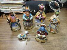 6 pcs Jim Shore 2004 Nativity Ornaments