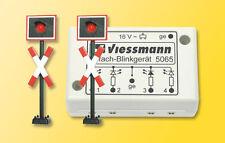 Viessmann 5801 Spur N Andreaskreuze, 2 Stück mit Blinkelektronik #NEU in OVP#