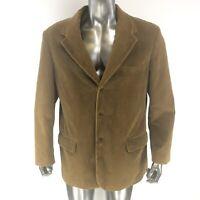 J CREW Men's Vintage Cord Brown Corduroy Blazer Coat Jacket XL