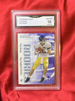 Gem Mint 10: 2000 Tom Brady ROOKIE, Fleer Skybox Impact RC Card #27, GMA graded