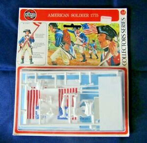 Airfix 54mm American Soldier 1775 Sealed Model Kit With Flag Option (B)