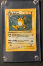 Raichu 1ST ED Holo Rare- FIRST EDITION Base set- Pokemon Cards (14/102)