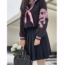 JK Japanese School Sailor Uniform Punk Gothic Cosplay Costumes Pleated Skirt
