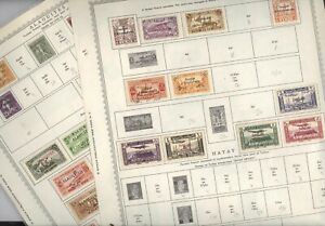 ALEXANDRETTA ,CILICIA, ALAOUITES ,  Excellent assortment of Stamps hinged on
