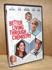 Better Living Through Chemistry (DVD, 2014) Sam Rockwell Olivia Wilde Michelle