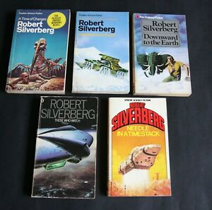 Five Sci Fi Paperbacks by Robert Silverberg. Very Good. First editions.