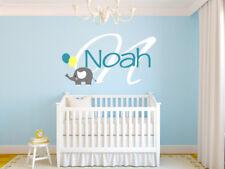 Elephant Personalized Wall Decal Name Monogram #2 Nursery Room Vinyl Graphics