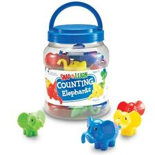 Learning Resources - Kids counters Snap 'N' Learn Counting Elephants (set of 10)