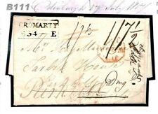 B111 GB ADD HALF Edinburgh Forwarded Cromarty Directed 'Dingw'l' 1817 Cover