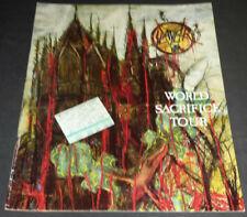 Slayer: 1988 World Sacrifice Tour Book/Program + 1998 Ticket Stub