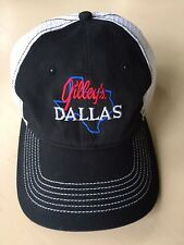 Gilley's Dallas Embroidered Mesh Trucker Hat Black White Adjustable